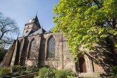 hameln Germania della chiesa di bonfiatius della st fotografie stock libere da diritti
