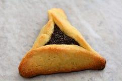 Hamentashen Ozen Haman普珥节曲奇饼 库存照片