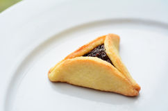 Hamentashen Ozen Haman Purim cookies Stock Image