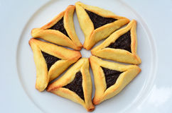 Hamentashen Ozen Haman Purim cookies Stock Images