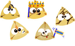 hamentashen purim Obraz Royalty Free