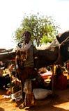 Hamer部落女孩Omo谷,埃塞俄比亚 库存照片