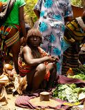 Hamer部落女孩Omo谷,埃塞俄比亚 免版税库存照片