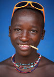 Hamer boy with sun glasses in South Omo, Ethiopia Royalty Free Stock Images