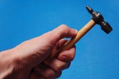 Hamer in de hand Royalty-vrije Stock Fotografie