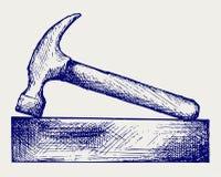 Hamer en bakstenen Royalty-vrije Stock Afbeeldingen