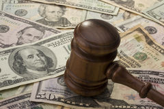 Hamer en Geld royalty-vrije stock foto