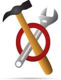 Hamer en moersleutel Royalty-vrije Stock Foto