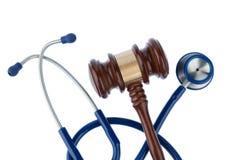 Hamer en stethoscoop Stock Afbeelding