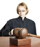 Hamer en vrouwelijke rechter royalty-vrije stock foto's