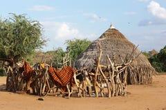 Hamer Etiopien, Afrika Arkivbild