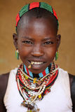 Hamer girl in South Omo, Ethiopia Royalty Free Stock Photos