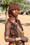 Hamer kvinna i södra Omo, Etiopien Fotografering för Bildbyråer