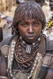 Hamer plemię w Turmi, Etiopia Zdjęcia Stock
