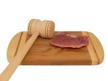 Hamer voor het slaan van het vlees Stock Afbeelding