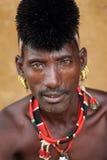 Hamer warrior in South Omo, Ethiopia Stock Images