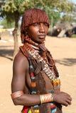 Hamer woman in South Omo, Ethiopia Stock Image