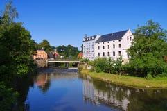 Hamermolen in Bautzen, Saksen, Duitsland Royalty-vrije Stock Foto