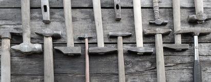 Hamers twee rijen stock fotografie