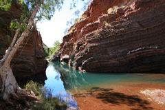 Hamersley Gorge, Karijini National Park. Outback Western Australia Royalty Free Stock Images