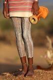 Hamerstrijder in Zuiden Omo, Ethiopië Stock Afbeeldingen
