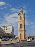 Hamid's clock three-storied tower. Yaffo, Israel Royalty Free Stock Image
