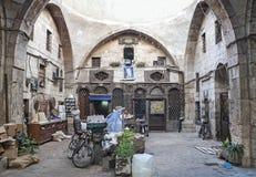 Hamidiye Bazaar market souk landmark in damascus syria Royalty Free Stock Photo