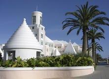 Hamilton. White and joyful architecture of the Bermudas' capital Hamilton Stock Photo