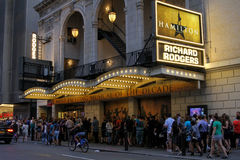 Hamilton auf Broadway in New York City Lizenzfreie Stockfotos