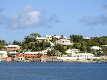 Hamilton, Bermuda-Various Colorful Dwellings Across the Bay Stock Photo