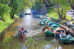 Hamilton Canal, Negombo Sri Lanka fotografía de archivo