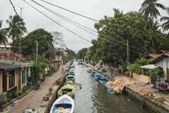 Hamilton canal in Negombo Stock Photos