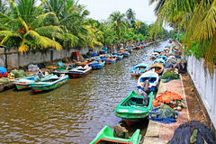 Hamilton Canal, Negombo Sri Lanka. The Hamilton Canal is a 14.5 km 9.0 mi canal connecting Colombo to Negombo in Sri Lanka. The canal was constructed by the Stock Photography