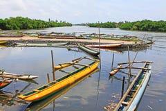 Hamilton Canal, Negombo Sri Lanka stock image