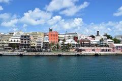 Hamilton, de Bermudas door het overzees stock fotografie