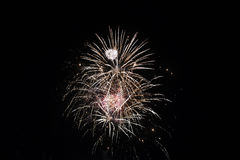 Hamilton gardens Art festival. Each year, the Hamilton Garden Arts Festival end the evening with a bang. They show than beautiful decorative fireworks Royalty Free Stock Photo