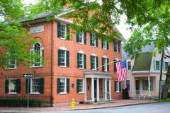 Hamilton Hall kastanjebrun gata Salem Royaltyfri Fotografi