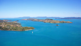 Hamilton Island Aerial Whitsundays Landscape Stock Photo