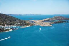 Hamilton Island Airport Runway Royalty-vrije Stock Foto