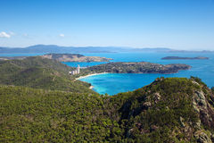 Hamilton Island Australia. Aerial landscape of Hamilton Island Whitsundays. Premier travel destination in tropical Whitsundays Stock Images
