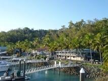 Hamilton Island Marina Tropical Paradise Australië Royalty-vrije Stock Foto