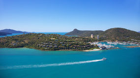 Hamilton Island Resort Whitsundays. Aerial landscape view of Hamilton Island Whitsundays, Australia Royalty Free Stock Photos