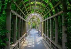 HAMILTON NZ - FEBRUARI 25, 2015: Italiensk renässansträdgård i Hamilton Gardens arkivbild