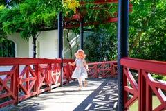 HAMILTON NZ - FEBRUARI 25, 2015: Kinesiska forskares trädgård i Hamilton Gardens royaltyfri bild