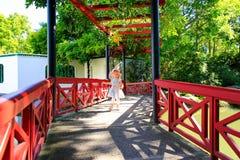 HAMILTON, NZ - FEBRUARY 25, 2015: Chinese Scholar's garden in Hamilton Gardens Royalty Free Stock Photography