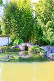 HAMILTON, NZ - FEBRUARY 25, 2015: Chinese Scholar's garden in Hamilton Gardens stock photos