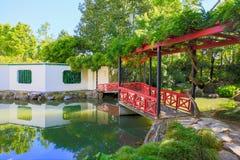 HAMILTON, NZ - FEBRUARY 25, 2015: Chinese Scholar's garden in Hamilton Gardens Stock Photography