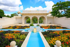 HAMILTON, NZ - FEBRUARY 25, 2015: Indian Char Bagh Garden in Hamilton Gardens royalty free stock photos