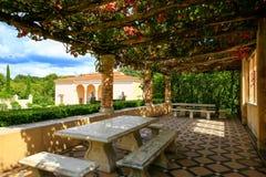 HAMILTON, NZ - FEBRUARY 25, 2015: Italian Renaissance Garden in Hamilton Gardens. Stock Image