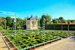HAMILTON, NZ - FEBRUARY 25, 2015: Tudor Garden in Hamilton Gardens royalty free stock photos